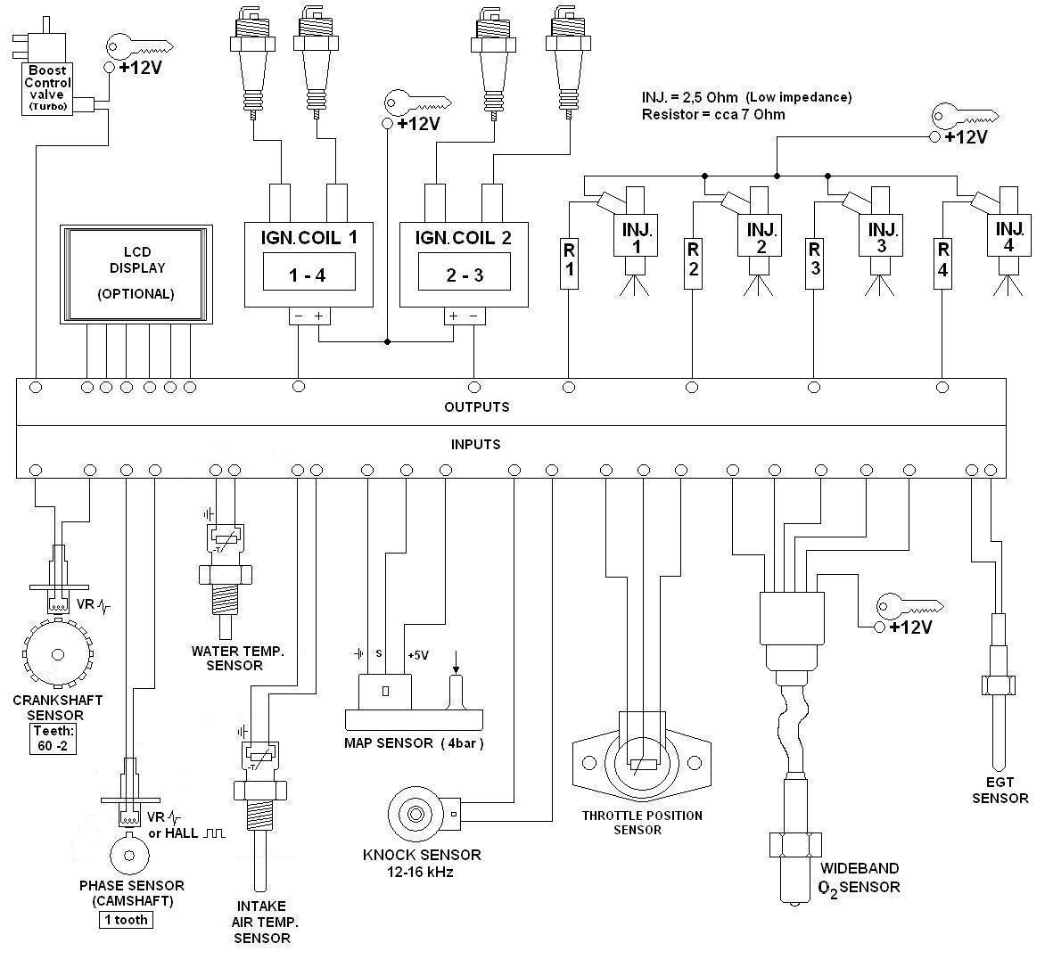 Fiat 130 wiring diagram